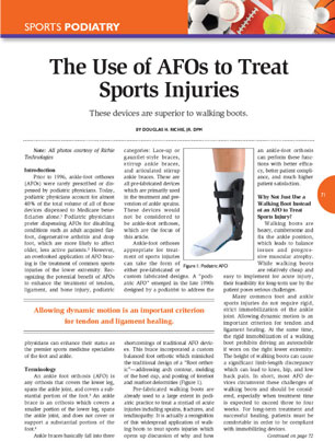 The Use of AFOs to Treat Sports Injuries