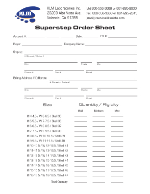 Superstep Order Form