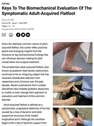 Keys to the Biomechanical Evaluation of the Symptomatic Adult-Acquired Flatfoot